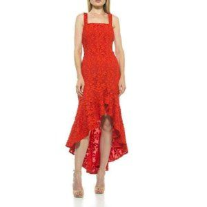 Alexia Admor Sylvana Crochet Lace High/Low Dress